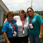 Branch members Karen Cunningham, Lorraine Erickson, and Amy Rieker attending UCSD  Tech Trek as dorm moms.