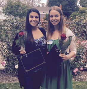 AAUW Simi Branch scholarship recipients Alexis Skoczylas and Giuliana Petrocelli.